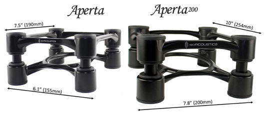 IsoAcoustics Aperta sizes